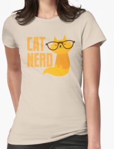 CAT NERD (professional vet or self-proclaimed expert on cats!) Womens Fitted T-Shirt