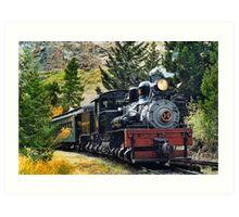 West Side Lumber Shay #14 on the Georgetown Loop Railroad Art Print