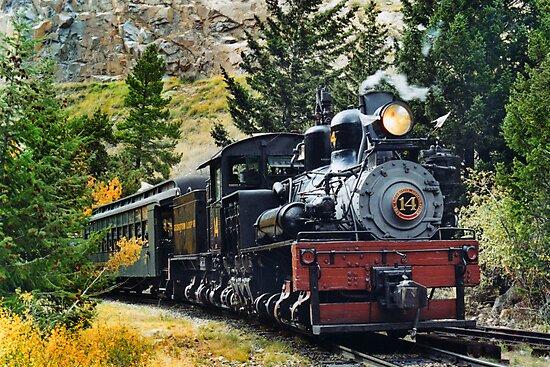 West Side Lumber Shay #14 on the Georgetown Loop Railroad by Ken Smith
