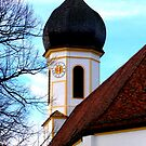 Clocktower Pilgrimage Church Hohenpeissenberg by ©The Creative  Minds