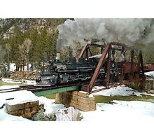 Durango & Silverton Winter Photo Charter at Tuffs Bridge Photographic Print
