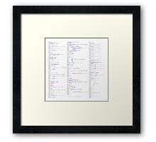 Hello, world! (Stylised colour on white)  Framed Print