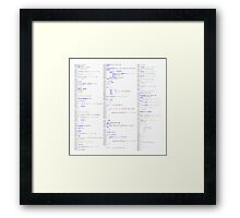 Hello, world! (Stylised colour on white)  Framed Print
