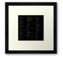 Hello, world! (Stylised colour on black)  Framed Print