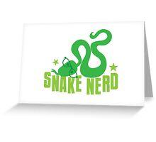 Snake Nerd (vet, pet shop, self proclaimed expert on SNAKES) Greeting Card