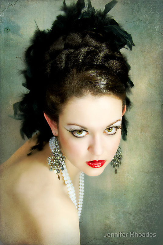 Feathery Glitz by Jennifer Rhoades