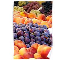 Peaches And Damson Plums  Poster