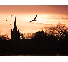 Sunset over the river. Photographic Print