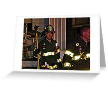 Fireman At Work In My Neighborhood Greeting Card