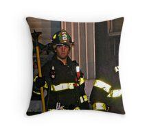 Fireman At Work In My Neighborhood Throw Pillow