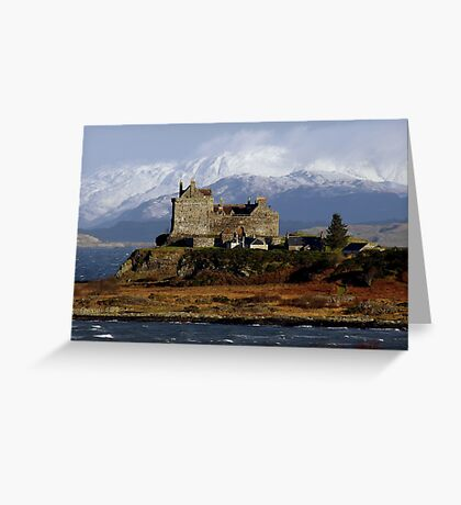 Scotland: Duart Castle in Winter Greeting Card