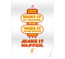 Macho Typographic Quote #5 Poster