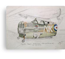 Spitfire Mk 1 cockpit at Brooklands Canvas Print