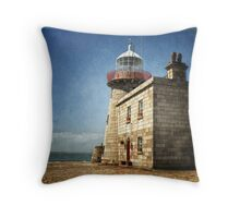 Howth Harbour Lighthouse - Ireland Throw Pillow