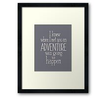 Adventure - Winnie the Pooh quote Framed Print