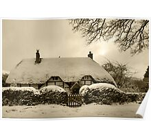 Snowy chocolate box Poster