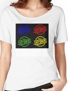 Strokes Multicolor Logo Women's Relaxed Fit T-Shirt
