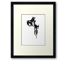 Tattoo Machine Gun Pop Art Framed Print