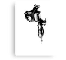 Tattoo Machine Gun Pop Art Canvas Print