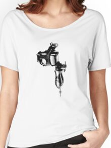 Tattoo Machine Gun Pop Art Women's Relaxed Fit T-Shirt