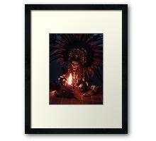Aztec Dancer - Bailerín Azteca Framed Print