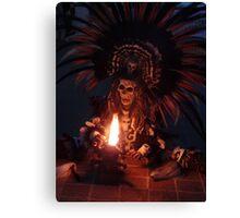 Aztec Dancer - Bailerín Azteca Canvas Print
