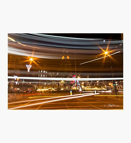Manchester Traffic Trails Photographic Print