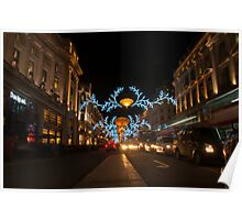 Regent Street at Christmas Poster