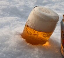 Beer in the snow Sticker