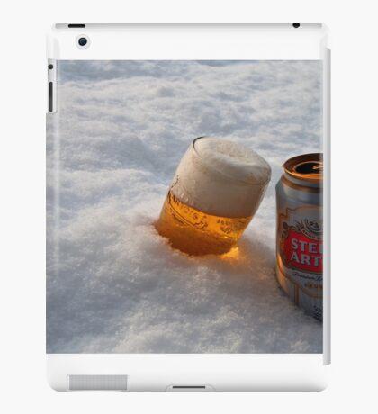 Beer in the snow iPad Case/Skin