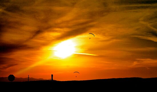 Paraglider's in Arizona by ADayToRemember