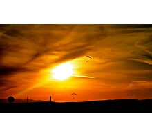 Paraglider's in Arizona Photographic Print