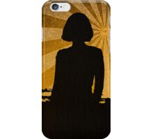 Silhouette gold iPhone Case/Skin