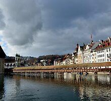 Chapel Bridge - Kapellbrücke - Switzerland by Daidalos