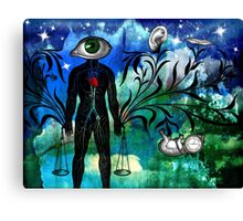 Midnight in the Garden of Seeing, Hearing, and Speaking No Evil Canvas Print