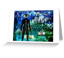 Midnight in the Garden of Seeing, Hearing, and Speaking No Evil Greeting Card