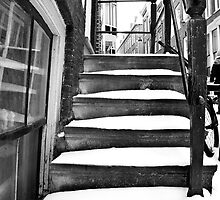Staircase in snow by pahas