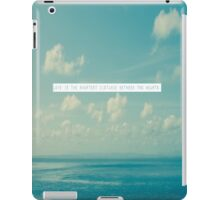 Love is the shortest distance between two hearts  iPad Case/Skin