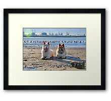 Industry Beach Framed Print
