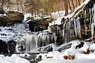 Icicles Decorate The R. B. Ricketts Waterfall by Gene Walls