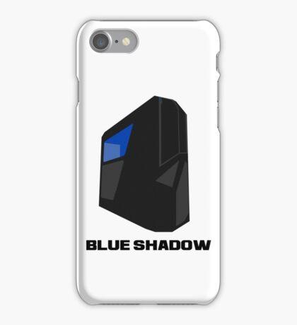 Blue shadow PC iPhone Case/Skin