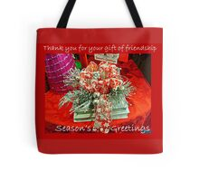Holiday Card - Thank You For Your Friendship Tote Bag