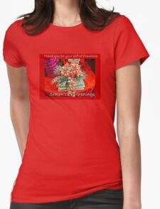 Holiday Card - Thank You For Your Friendship Womens Fitted T-Shirt