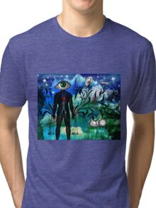 Midnight in the Garden of Seeing, Hearing, and Speaking No Evil Tri-blend T-Shirt