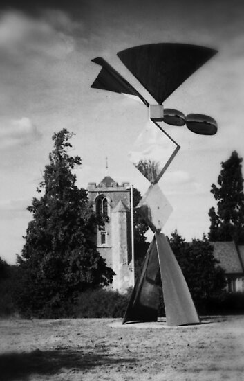 Latton Church and Sculpture  by Nigel Bangert