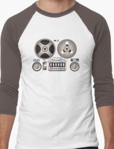 Tape Recorder Retro Magnetophon  Men's Baseball ¾ T-Shirt