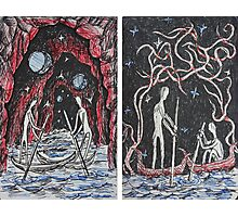 Ink Sketches - Boatmen I & II 2012 Photographic Print