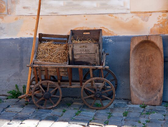 Wooden Cart by phil decocco