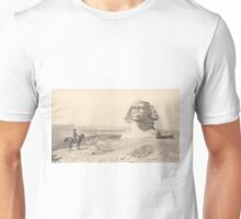 NAPOLEON and the Sphinx. Antique Book Art Reproduction T-shirt. Unisex T-Shirt