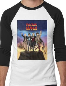 'Doctor Who meets KISS' Version 1 Men's Baseball ¾ T-Shirt